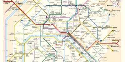 Mapa Do Metro De Paris.Paris Mapa Mapas De Paris Ile De France Franca