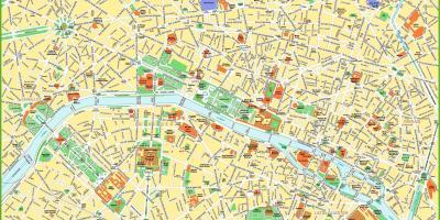 Mapa De Paris Centro.Paris Mapa Mapas De Paris Ile De France Franca