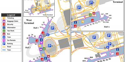 Paris orly airport mapa